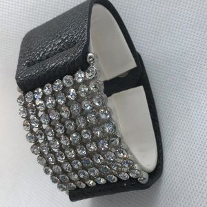 Rhinestone and leather